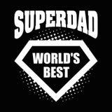 Superdad logo superhero World& x27;s best Royalty Free Stock Image
