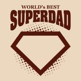 Superdad logo superhero World& x27;s best Royalty Free Stock Images