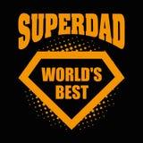 Superdad logo superhero World& x27;s best Stock Images