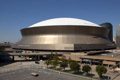 Superdome - New Orleans, Louisiana,. Mercedes-Benz Superdome also known as Louisiana Superdome located in the Business District in downtown New Orleans Royalty Free Stock Photos