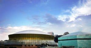 Superdome y arena Imágenes de archivo libres de regalías