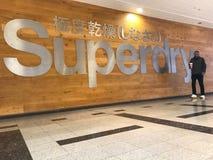 Superdry lager, london arkivfoto