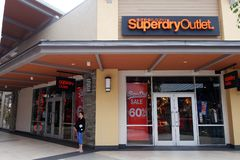 Superdry store at Genting Highlands Premium Outlets, Malaysia. GENTING HIGHLANDS, MALAYSIA- DEC 03, 2018 : Superdry store at Genting Highlands Premium Outlets stock photo