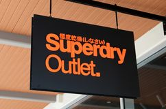 Superdry store at Genting Highlands Premium Outlets, Malaysia. GENTING HIGHLANDS, MALAYSIA- DEC 03, 2018 : Superdry store at Genting Highlands Premium Outlets royalty free stock photo