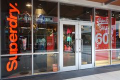Superdry store at Genting Highlands Premium Outlets, Malaysia. GENTING HIGHLANDS, MALAYSIA- DEC 03, 2018 : Superdry store at Genting Highlands Premium Outlets stock images