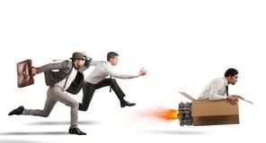 Supere e consiga o sucesso Imagens de Stock