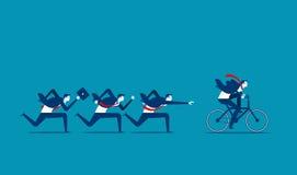 Supere e consiga o sucesso Illustrati da pessoa do negócio do conceito ilustração stock