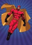 Supereroe che pilota Ray Light Vertical illustrazione di stock