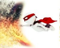 supereroe 3D con effetto speciale di scoppio Immagini Stock