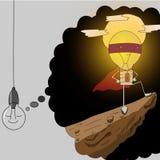 Supereroe della lampada Fotografia Stock Libera da Diritti