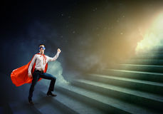 Supereroe di camminata Immagine Stock Libera da Diritti