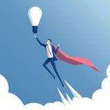Supereroe ed idea di affari Immagini Stock Libere da Diritti