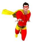 Supereroe in volo Immagine Stock Libera da Diritti