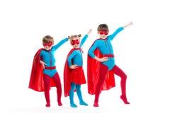 Supereroi dei bambini fotografia stock libera da diritti