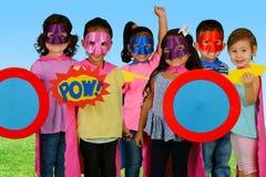 Supereroi del bambino Immagini Stock