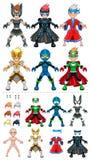 Supereroi dell'avatar, oggetti isolati Fotografia Stock