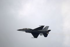 Superestructura del jet F-16 Imagenes de archivo