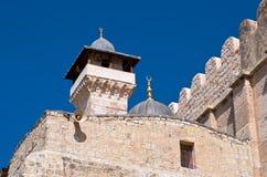 Superestrutura islâmica acima da caverna de Machpelah. fotografia de stock royalty free