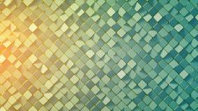 A superfície azul amarela 3D do mosaico do rombo do inclinação rende Imagens de Stock Royalty Free
