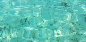 Superfície azul bonita da água de turquesa como o fundo/textura fotografia de stock royalty free