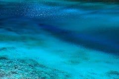 Superfície azul do lago Imagens de Stock