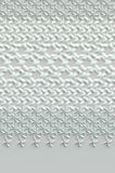 Superfície cinzenta e branca abstrata feita malha Fotos de Stock