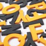 Superfície coberta com as letras de madeira Imagem de Stock Royalty Free
