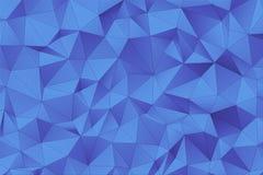 Superfície 3D poligonal azul Fotografia de Stock
