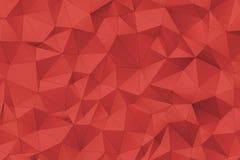 A superfície 3D poligonal vermelha rende Fotografia de Stock