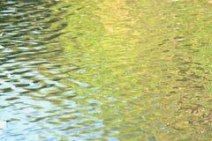 Superfície da água com reflexão da luz solar e teste padrão do espirro para o contexto do fundo fotos de stock royalty free