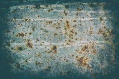 A superfície da chapa de aço velha corrosão-danificada imagens de stock royalty free