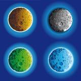 Superfície da lua de quatro tolos Imagens de Stock Royalty Free