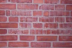 A superfície da parede de tijolo vermelho Imagem de Stock Royalty Free
