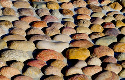 A superfície das pedras arredondadas Fotografia de Stock Royalty Free