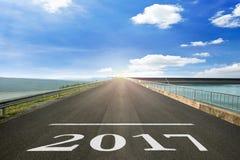 2017 - A superfície de estrada de começa a Christian Era Imagens de Stock