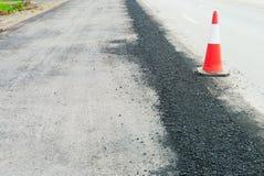 superfície de estrada que repara trabalhos Fotografia de Stock