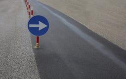 Superfície de estrada recentemente colocada Foto de Stock Royalty Free
