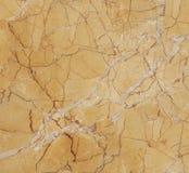 Superfície de mármore do amarelo Fotografia de Stock
