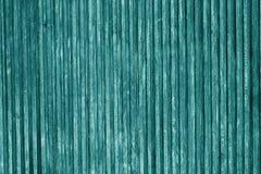 Superfície de madeira decorativa na cor ciana fotos de stock royalty free