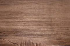 Superfície de madeira marrom granulado Fotografia de Stock Royalty Free