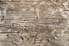 Superfície de madeira velha com quebras Fotos de Stock