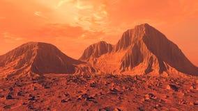 Superfície de Marte Fotografia de Stock Royalty Free