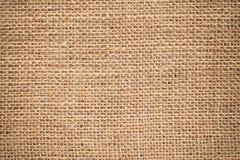 Superfície de matéria têxtil textura de pano do ensaque Fotografia de Stock