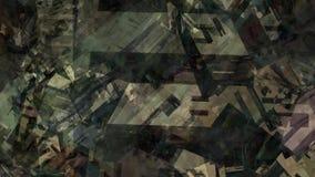 Superfície de material caótica resistida da textura do sumário pintura geométrica urbana que cai na ilustração digital colorida d ilustração royalty free