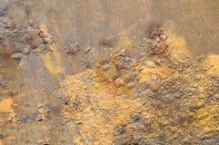 A superfície de metal é sujeita à corrosão e ao tempo Fundo Textura foto de stock