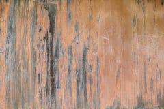 Superfície de metal coberta com a oxidação e a corrosão Fotografia de Stock Royalty Free