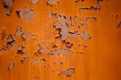 Superfície de metal com pintura da casca Imagens de Stock Royalty Free