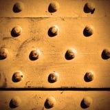 Superfície de metal com rebites Imagem de Stock Royalty Free