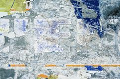 Superfície de metal com riscos e resíduos da pintura para fundos abstratos Imagens de Stock