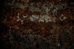 Superfície de metal da oxidação com vinheta fotografia de stock royalty free